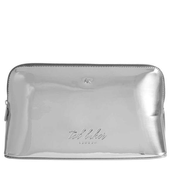cheap for discount 84954 441bb 🆕 Ted Baker Lauran Mirrored Silver Wash Bag Case NWT